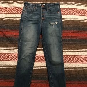 High waisted, button up Madewell jeans